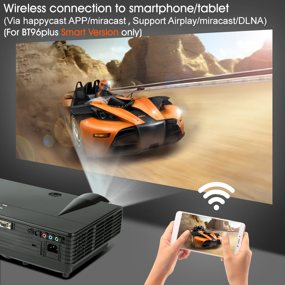 BYINTEK MOON BT96Plus Android Wifi Smart Video LED Projector For Home  Theater Full HD 1080P Support 4K Online Video